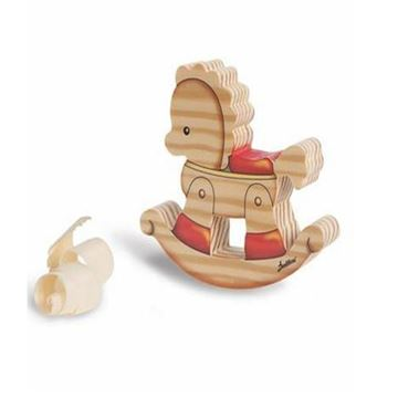 Picture of SMALL FAMILY SOLID WOOD ROCKING HORSE