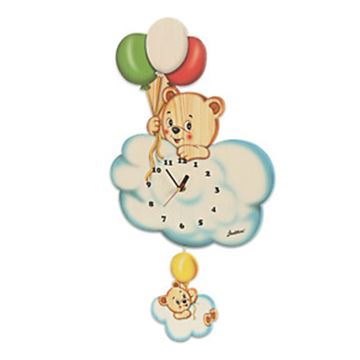 Picture of BIG CLOCK BEAR WITH BALLOON