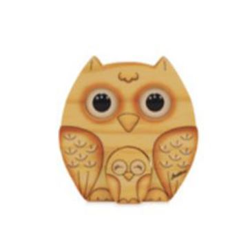 Picture of ANIMALS 3D EYES SOLID WOOD OWL